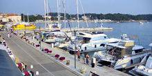 Seaport, embankment, yachts Porec