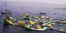 Inflatable slides in the open sea Bol