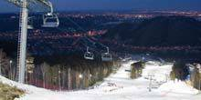 Ski slope in the Bobrov Log Krasnoyarsk