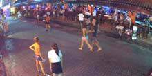 Webcam Samui - Busy street with snack bars