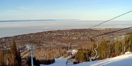Webcam Baikalsk - View of Baikal from Sobolinaya Mountain