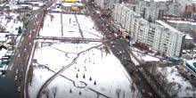 Webcam Krasnoyarsk - Square on the streets of Kopylov and the Red Army