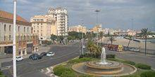 Webcam Cadiz - Square with a fountain on the waterfront