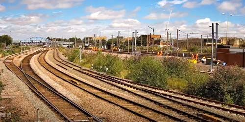 Webcam Peterborough - Train movement in the station area