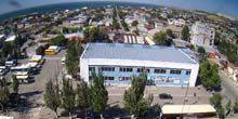 Bus station, panorama from above Berdyansk
