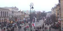Webcam Warsaw - Krakow suburb street