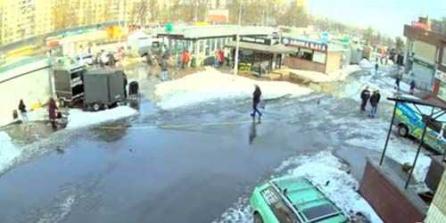 Webcam Kiev - Teremki metro station