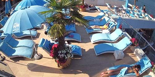 Webcam Odessa - Sunbeds on the terrace at the Nemo Hotel