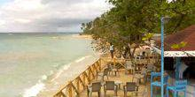 Cafe on the seafront in Las Terrenas Santo Domingo