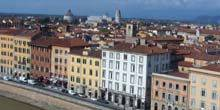 Webcam Pisa - Sightseeing tour, Arno Embankment
