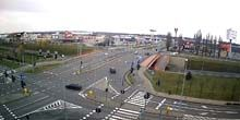 Webcam Szczecin - Traffic on bridges in the Right Bank