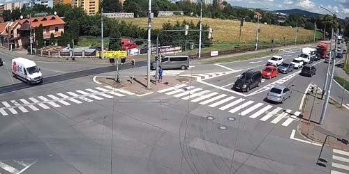 Webcam Zlin - Traffic on the highway