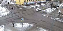 Webcam Kondopoga - Traffic on Zavodskaya street