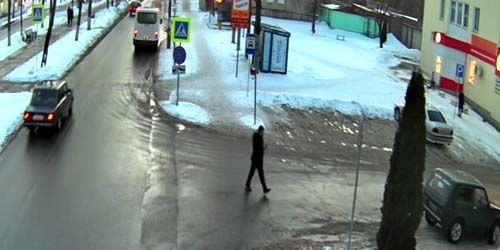 Webcam Smolensk - Transport movement along the city street