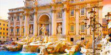 View of the Trevi Fountain Rome