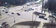Webcam Lipetsk - intersection of Tsiolkovsky and Astronauts streets