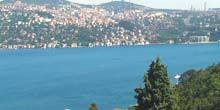 Panorama of the Bosphorus Strait from Ulus Park Istanbul