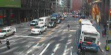 Webcam New York - Wall Street and Water Street