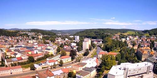 Webcam Trutnov - Panorama from above, view of the Upa River