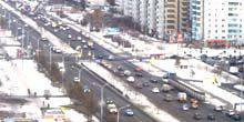 Webcam Krasnoyarsk - Crossroads of streets on May 9 and Urvantseva