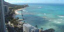 View from hotel Sheraton Princess Kaiulani Hawaiian Islands