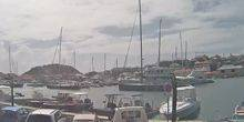 Private yachts in the port of Saint-Barthelemy Gustavia