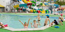 Webcam Dnepr (Dnepropetrovsk) - Water slides at the sports complex Amber