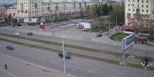 Webcam Barnaul - Stela Zero kilometer on Lenin Avenue
