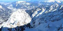 Webcam Garmisch-Partenkirchen - Panorama from the top of the Zugspitze